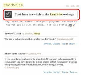 Go To Readwise App
